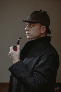 The man in Sherlock Holmes Hat by Hanna Hats