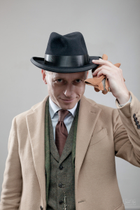 Retro look in a Homburg Tonak hat
