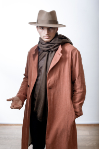 Man in Tonak Hat and Infundibulum Coat