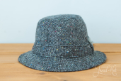 Grey Tweed Walking Hat by Hanna Hats