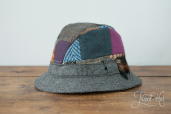 Patchwork Tweed Country Hat by Hanna Hats