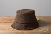 Brown Tweed Wee Thatch Hat by Hanna Hats