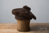 Brown Tam O'Shanter Bonnet by Ye Olde Cappe