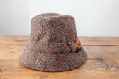 Brown Tweed Fishing Hat by Hanna Hats