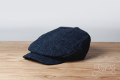 Blue Sean Tweed Cap by Hanna Hats