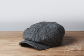 Grey Kells Tweed 8-piece Cap by Hanna Hats