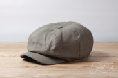 Green Linen Kells 8-piece Cap by Hanna Hats