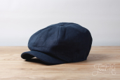 Blue Linen Kells 8-piece Cap by Hanna Hats
