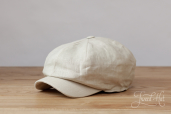 Light Linen Kells 8-piece Cap by Hanna Hats