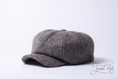 Grey Tweed 8-piece Zamoskvorechje Cap by Old Pal