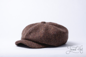 Brown Tweed 8-piece Zamoskvorechje Cap by Old Pal