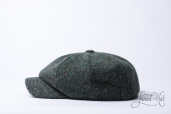 Green Tweed 8-piece Zamoskvorechje Cap by Old Pal