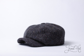 Dark Grey Tweed 8-piece Zamoskvorechje Cap by Old Pal
