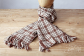 Brown Tartan Handwoven Scarf by Old Pal