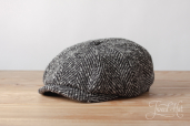 Grey Hatteras Herringbone Tweed 8-piece cap #333 by Stetson