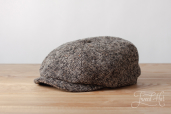 Ash-grey Donegal Tweed Hatteras 8-piece cap #471 by Stetson