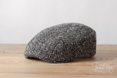 Grey Herringbone Tweed Stetson Michigan/Madison Cap #333