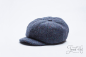 Blue Tweed 8-piece Zamoskvorechje Cap by Old Pal