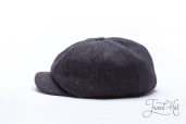 Black Tweed 8-piece Zamoskvorechje Cap by Old Pal
