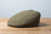 Green Herringbone Tweed Vintage Cap by Hanna Hats