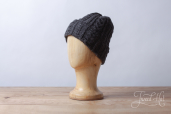 Dark Grey Aran Knitted Cap by Kerry Woolen Mills