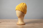 Yello Aran Knitted Cap by Kerry Woolen Mills