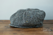 Grey Tweed 8-piece Cap by Hanna Hats