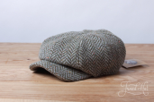 Grey-Green Herringbone Kells Tweed 8-piece Cap