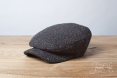 Dark Grey Sean Tweed Cap by Hanna Hats