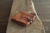 Natural Leather Purse by Drasvi Venn