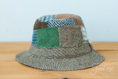 Patchwork Tweed Walking Hat by Hanna Hats