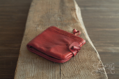 Red Leather Purse by Drasvi Venn