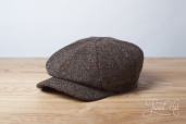 Brown-Grey Kells Tweed 8-piece Cap by Hanna Hats