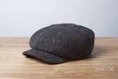 Dark Grey Kells Tweed 8-piece Cap