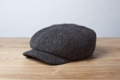 Dark Grey Kells Tweed 8-piece Cap by Hanna Hats