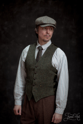 Green Tweed Waistcoat by Hatman of Ireland