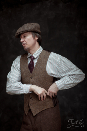 Brown Herringbone Tweed Waistcoat by Hatman of Ireland