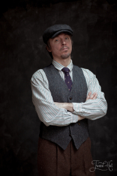 Grey Tweed Waistcoat by Hatman of Ireland