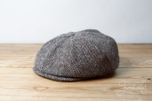 Grey Tweed Newsboy Cap by Hanna Hats