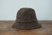 Brown Tweed Eske Hat by Hanna Hats