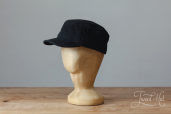Black Cotton Stetson Army Cap