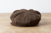 Brown Magee Tweed 8-piece Cap by Hanna Hats