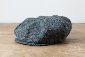 Grey Harris Tweed 8-piece Cap by Hanna Hats
