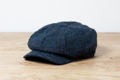 Blue Plaid Tweed Kells 8-piece Cap by Hanna Hats