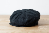 Dark Grey Harris Tweed 8-piece Cap by Hanna Hats