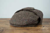 Brown Tweed Cap with Ears by Hanna Hats