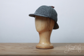 Grey Herringbone Harris Tweed Sherlock Holmes Hat by Hanna Hats