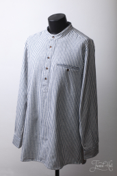Flannel Grandfather Shirt with Blue Stripes LVC by Lee Valley Ireland
