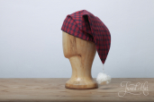 Flannel Red and Navy Check Nightcap SF2 by Lee Valley