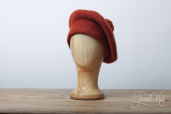 Red Tam O'Shanter Bonnet by Ye Olde Cappe